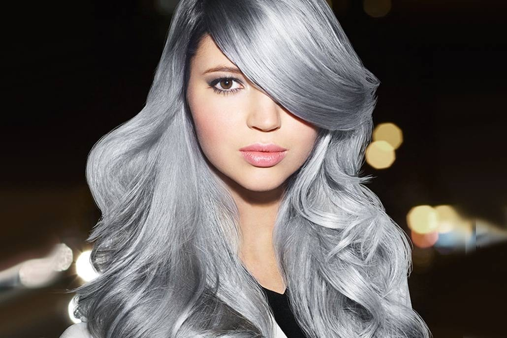 Platinum Silver, Gray and Blonde Silver Haircolor